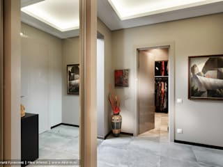 Ольга Кулекина - New Interior ทางเดินสไตล์สแกนดิเนเวียห้องโถงและบันได
