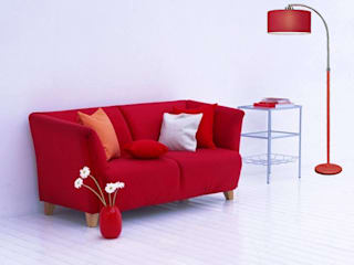 Angelo Luz + Diseño Living roomLighting Nhôm / Kẽm Red
