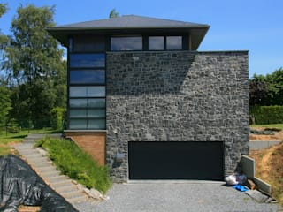 Nouvelle habitation à Marchovelette Maisons modernes par DELTA Architects Belgique Moderne