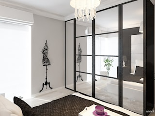 Dom w Grójcu: styl , w kategorii Sypialnia zaprojektowany przez Klaudia Tworo Projektowanie Wnętrz Sp. z o.o.