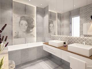 Modern Bathroom by Klaudia Tworo Projektowanie Wnętrz Sp. z o.o. Modern