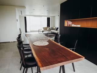 분당구 수내동 아파트 (before& after) 모던스타일 다이닝 룸 by 샐러드보울 디자인 스튜디오 모던