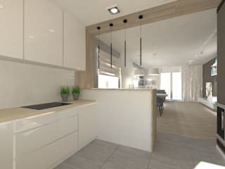 Gil Architekci Modern kitchen