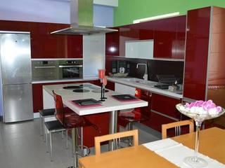 Ansidecor 廚房收納櫃與書櫃 複合木地板 Red