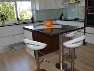 Ansidecor ห้องครัวเคาน์เตอร์ครัว หินควอตซ์ White