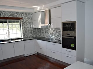 Ansidecor ห้องครัวตู้เก็บของและชั้นวางของ หินควอตซ์ White