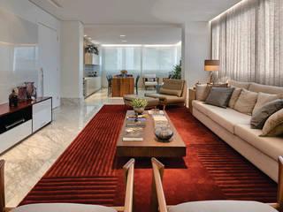 Apartamento .CB Salas de estar modernas por Amis Arquitetura e Decoração Moderno
