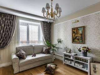 Квартира на ул. Есенина Гостиная в средиземноморском стиле от Belimov-Gushchin Andrey Средиземноморский