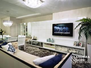 Moderne Wohnzimmer von Landeira & Goes Arquitetura Modern