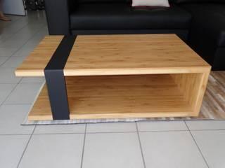 Table Basse Bambou par LC CRÉATION MOBILIER Moderne