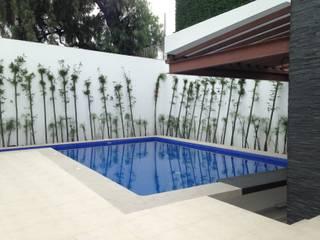 Residencia  : Albercas de estilo moderno por CESAR MONCADA S