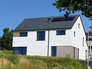 Maison passive à Durnal Maisons modernes par Bureau d'Architectes Desmedt Purnelle Moderne