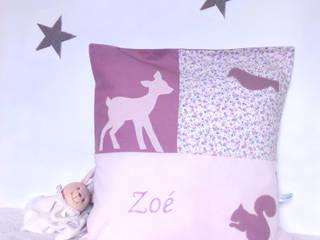 Coussin pour une petite Zoé:  de style  par la chouette à pois roses