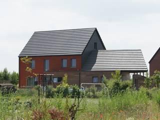 Maison passive en bois, à Gembloux Maisons modernes par Bureau d'Architectes Desmedt Purnelle Moderne