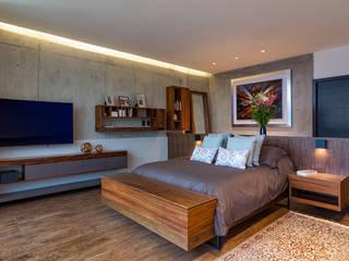 CASA RR Dormitorios modernos de BURO ARQUITECTURA Moderno