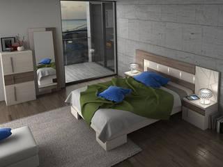 Dormitorios:  de estilo  de Muebles Orgón