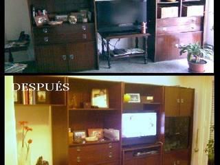 Restauración y diseño muebles: Livings de estilo  por Estela Ramírez, arquitecta.