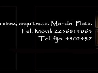 Estela Ramírez, arquitecta. Maisons classiques Granite Noir