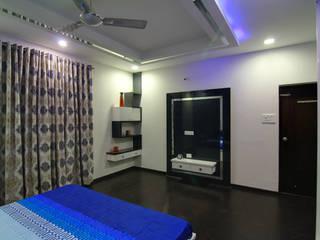 A TRIPLEX VILLA NEAR SUNCITY, HYDERABAD Modern style bedroom by KREATIVE HOUSE Modern