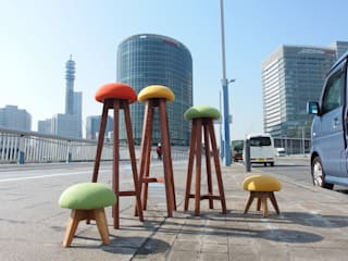 キッチンスツール~kinoっぽ~: 二輪草家具が手掛けた折衷的なです。,オリジナル