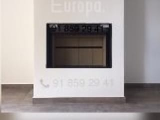 Chimeneas Picos de Europa 现代客厅設計點子、靈感 & 圖片