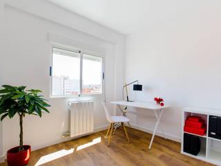 Dormitorio y despacho Estudios y despachos de estilo escandinavo de Noelia Villalba Escandinavo