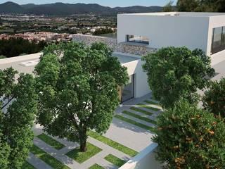 Can Z.Zidane Jardines de estilo moderno de Atlant de Vent Moderno