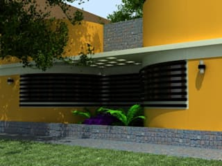 VIVIENDA UNIFAMILIAR / RENDERS Casas modernas: Ideas, imágenes y decoración de CubiK Moderno