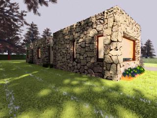 VIVIENDA UNIFAMILIAR EN EL CAMPO / RENDERS Casas modernas: Ideas, imágenes y decoración de CubiK Moderno