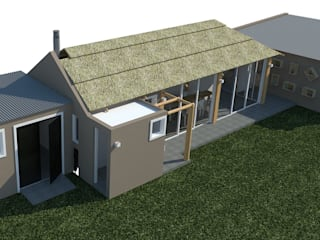 Quincho: Cierre, ampliación y reforma. : Casas de estilo  por Bessone Arquitectos