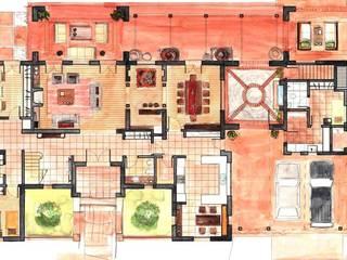 Casa Dodero:  de estilo  por Aulet & Yaregui Arquitectos