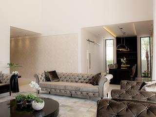 Camila Castilho - Arquitetura e Interiores Salon moderne Blanc