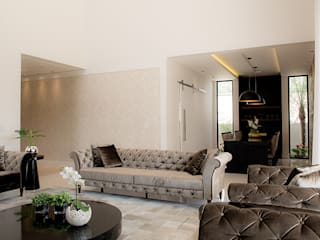 Camila Castilho - Arquitetura e Interiores Вітальня Білий