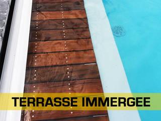 Terrasses bois - Extérieur LA MOULURE BORDELAISE Piscine Bois