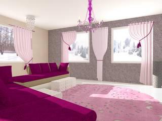 Salon w stylu glamour: styl , w kategorii  zaprojektowany przez Wizja Wnętrza - projekty i aranżacje