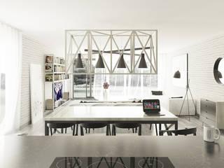 JASNA CZĘŚĆ DZIENNA: styl , w kategorii Salon zaprojektowany przez 1852M