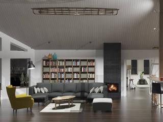 DOM W OSTERSUND: styl , w kategorii Salon zaprojektowany przez 1852M