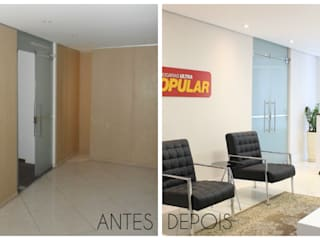 Офисные помещения в стиле минимализм от É! Arquitetura e Design Минимализм