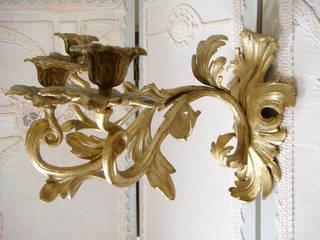 Maisondora Vintage Living Paredes y pisosDecoración de paredes Metal Ámbar/Dorado