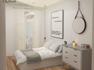 Apartment in Belém Quartos escandinavos por Lagom studio Escandinavo Madeira Acabamento em madeira