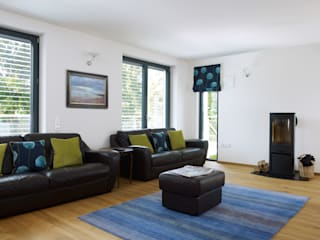 Modern Home Bond Modern living room by Baufritz (UK) Ltd. Modern