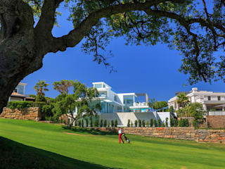 Vale do Lobo 1147: Jardins  por JSH Algarve Arquitectura Lda,Minimalista