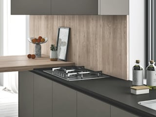 Ambiente Cucina (A) – dettaglio piano di lavoro: Cucina in stile  di Nova Cucina