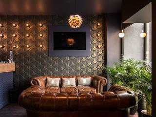 Transformation d'un local commercial en salon de thé avec fumoir: Bars & clubs de style  par Atelier Tropique
