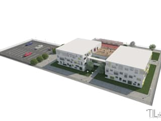 College in Luanda Escolas modernas por Lagom studio Moderno