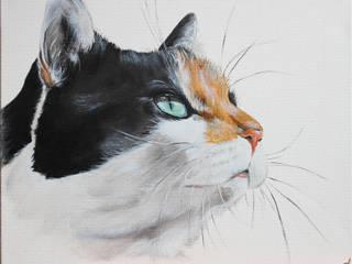 不拘一格  by Odile Laresche Artiste Peintre Animalier, 隨意取材風