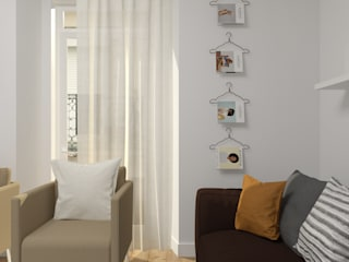 Apartment in Belém, Lisbon Salas de estar escandinavas por Lagom studio Escandinavo