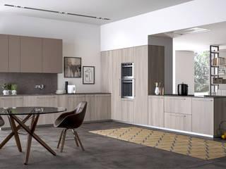 Ambiente Cucina (A) – panoramica: Cucina in stile  di Nova Cucina