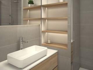 Proyecto de reforma integral 3D en Sitges Baños de estilo moderno de Grupo Inventia Moderno