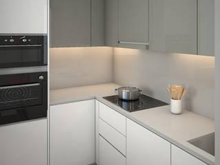 Proyecto de reforma integral 3D en Sitges Cocinas de estilo moderno de Grupo Inventia Moderno